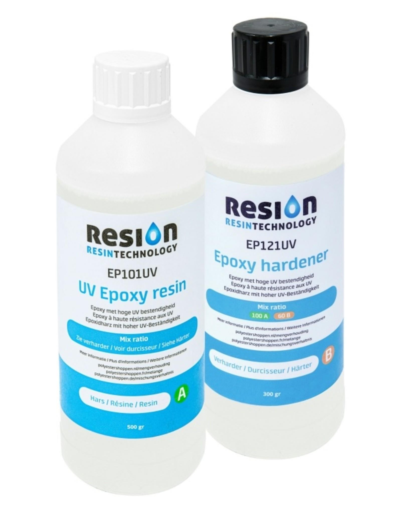 Resion Epoxy 2 componenten 800 gram EP121UV en EP101UV