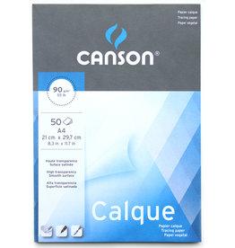 Canson Blok Transparant Papier Gesatineerd/ Kalkpapier A3 (29,7x42cm) ±90 grs 50 vel, bovenkant gelijmd