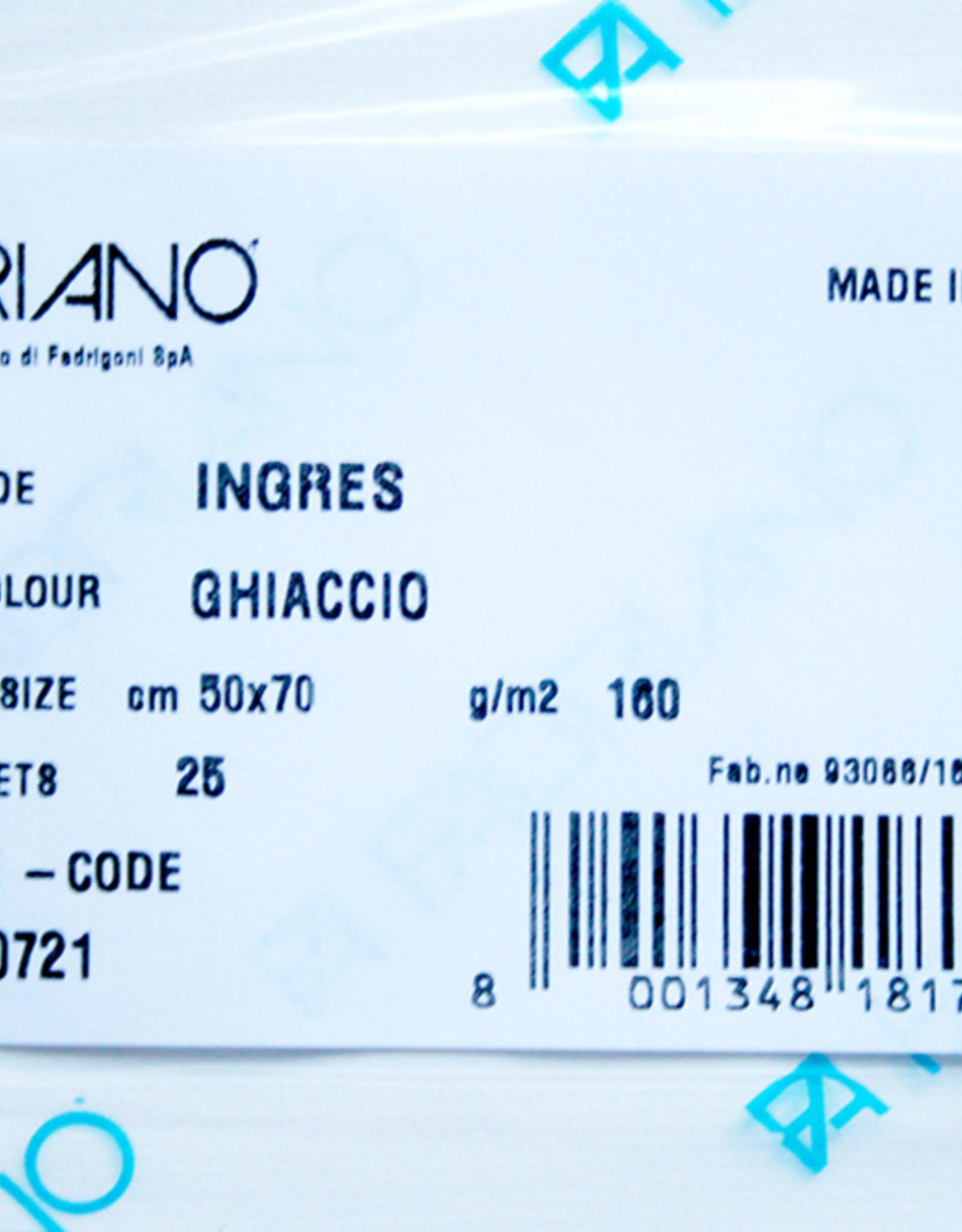 Fabriano 5 vel Ingres Papier 50 x 70 cm 160 grs Ghiaccio Levend Wit