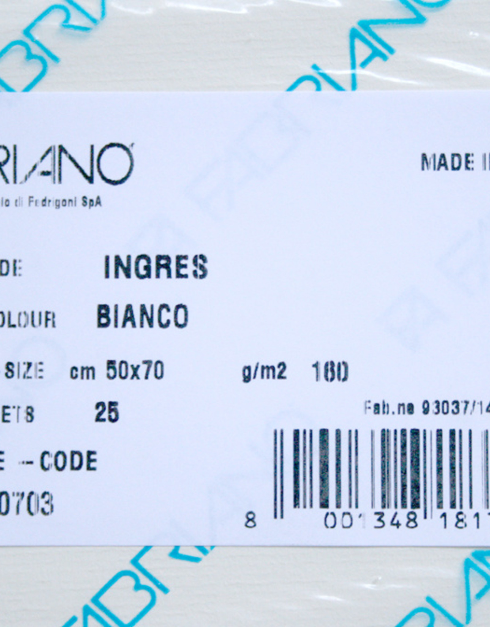 Fabriano 5 vel Ingres Papier 50 x 70 cm 160 grs Bianco Natuur Wit