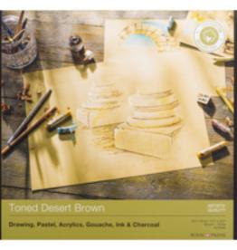 Rembrandt Pastelpapier, A3 Blok Toned Desert Brown (Zandkleur), Rembrandt, 50 vel 180 grams FSC