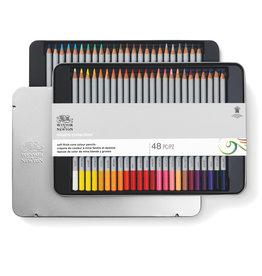 WInsor & Newton Starter pakket kleurpotloden Winsor & Newton in metalen doos