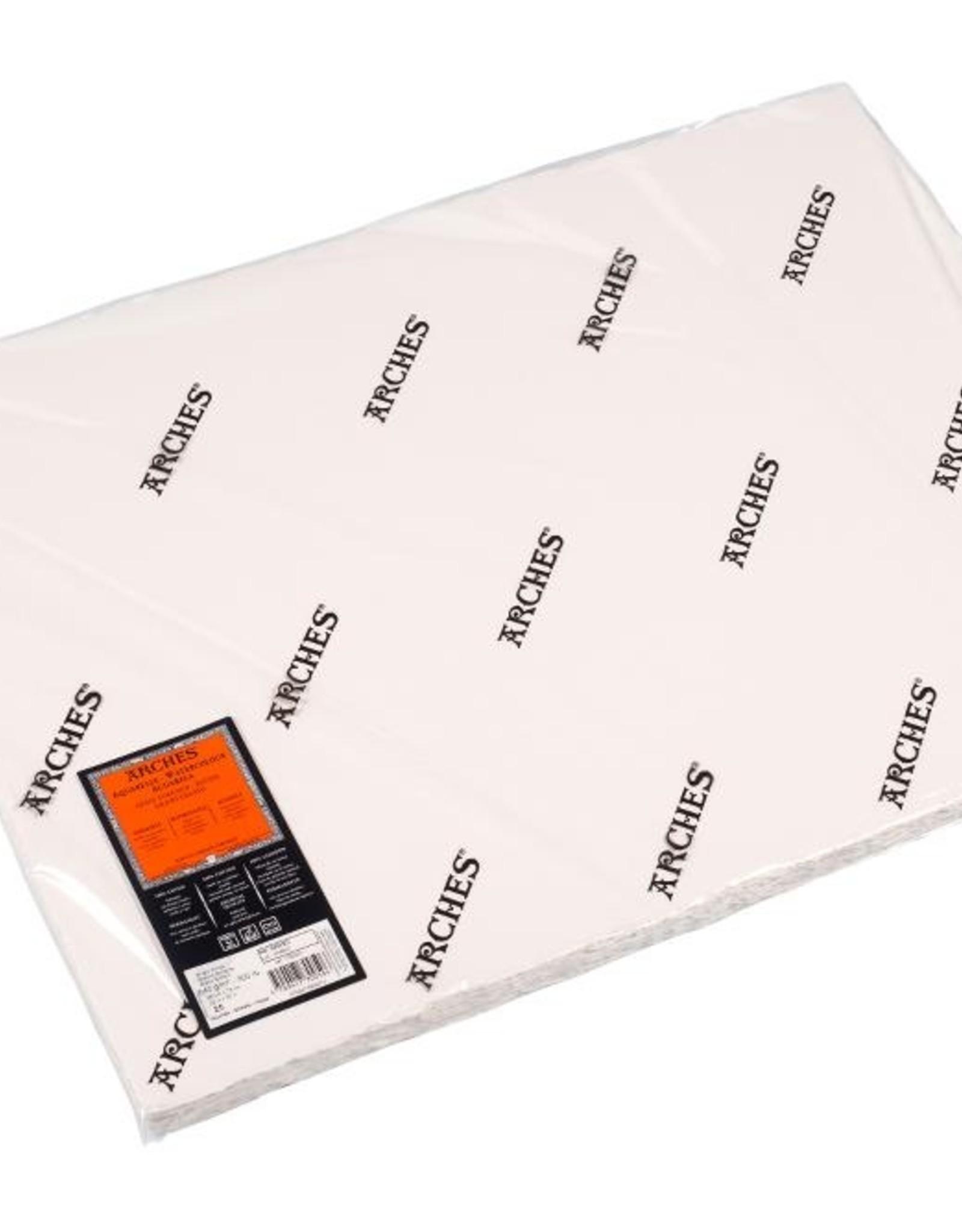 Canson 5 vel Arches Aquarelpapier wit 300grams 56x76 ruw. Verstuurd in een ruime koker.