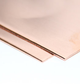 2 stuks Koperplaat groter dan 40x50cm 0,8mm dik OP AANVRAAG