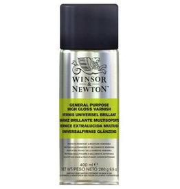 Winsor & Newton Vernis Glans in Spuitbus Professional voor Acryl of Olieverf Schilderijen 400 ml, Winsor & Newton