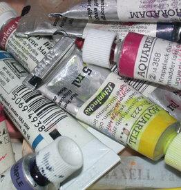 WInsor & Newton Starter Set Aquarel 'Compleet'. Bevat 12 tubes Cotman 21 ml (4 aardkleuren en 8 spectrumkleuren), triplex plaatje 34x40 cm + 100 meter gomband + marterpenseel 331-no3 + aquarelpotlood + gum +blok W&N aquarelpapier 23x31 cm