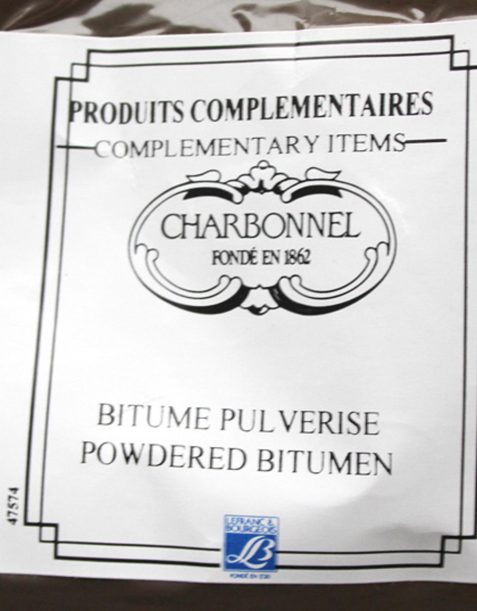 L&B Charbonnel Asfaltpoeder wordt gebruik om zelf Asfalt-tinctuur te maken. Asphalttinctuur wordt bijvoorbeeld gebruikt om het vetbeeld bij lithografie te verstevigen opdat de inkt goed pakt.