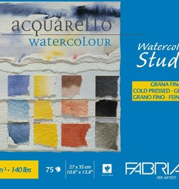 Fabriano Fabriano papier voor (Acryl of) Aquarel, Blok/ Watercolour Block studio, 27x35 cm, 75 vel