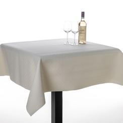 Tafel beschermer uni wit embossed
