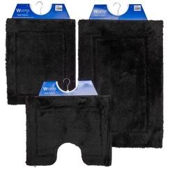 Badmat 60-37 60x90cm Uni zwart