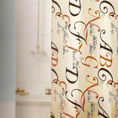 Shower curtain textile Lettere