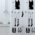 Shower curtain textile Papillon