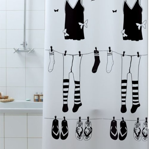 Shower curtain textile Papillon