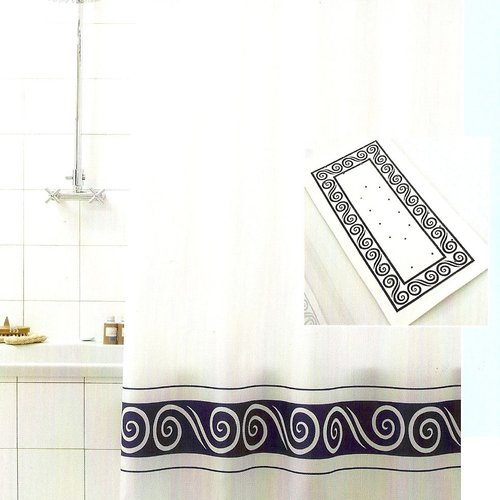 Shower curtain textile Ricciolo