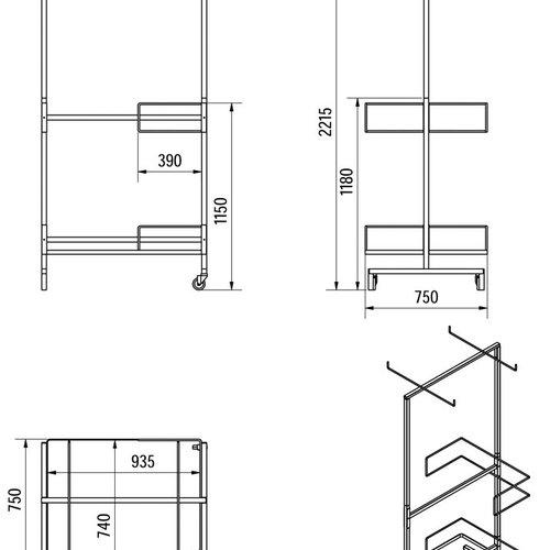 Fly curtain sales rack