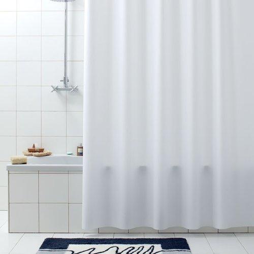 Shower curtain pvc Tevere white