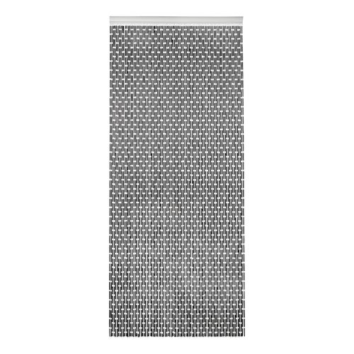 Door curtain Tubes 90x210 cm black