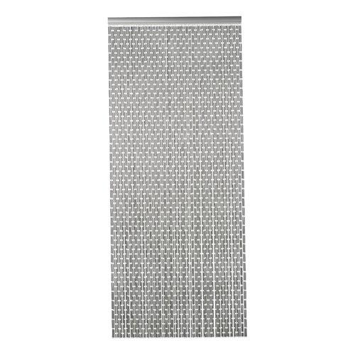Door curtain Tubes 90x210 cm gray
