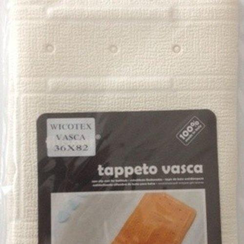Non-slip bath mat white