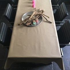 Gecoat tafellinnen - beige