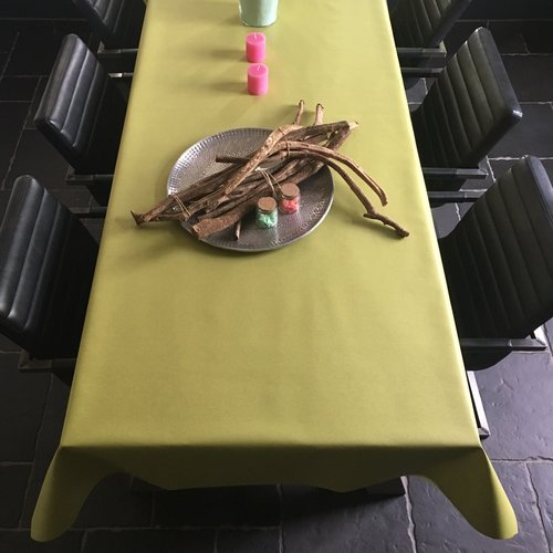 Coated table linen green