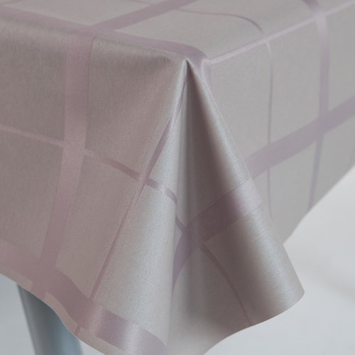 Coated table textiles Lys taupe