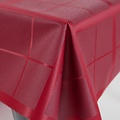 Coated table textile Lys red