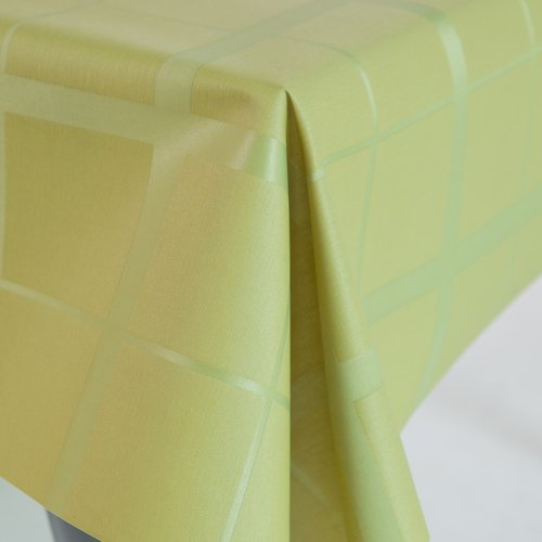 Coated table textiles Lys mustard green