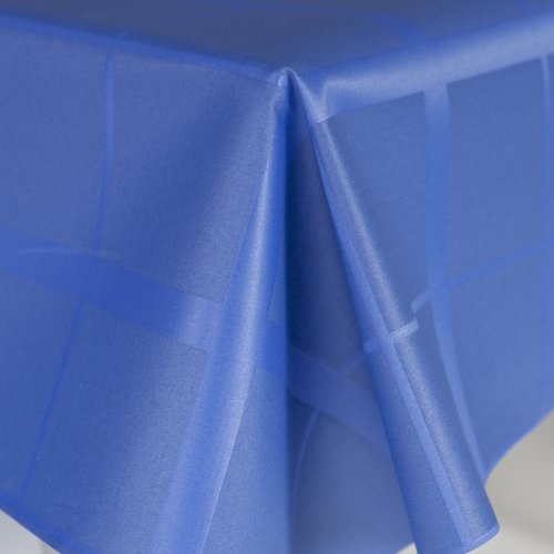 Coated table textile Lys blue