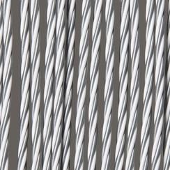 Deurgordijn Madrid 90x220 cm wit-grijs