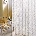 Shower curtain pvc Rombo beige