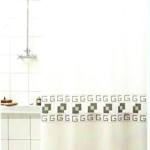 Shower curtain textile Square gray