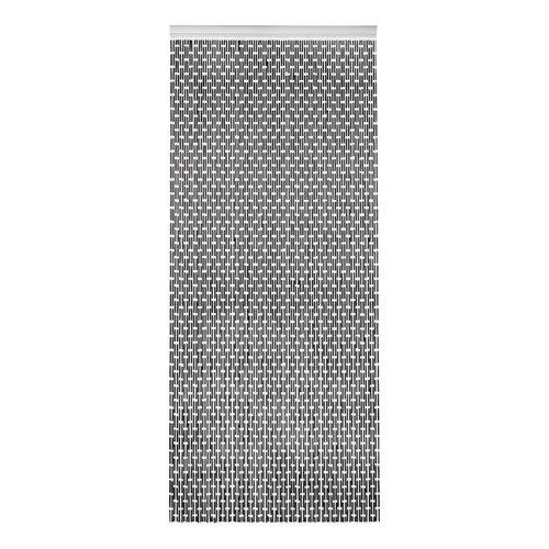 Türvorhang rohre 100x232 cm schwarz