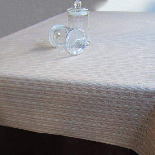 Coated table textile Othos beige