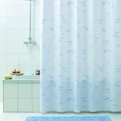 Douchegordijn pvc Tamigi blauw