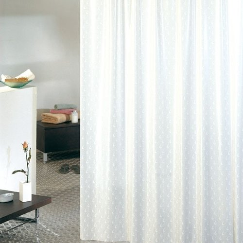 Shower curtain pvc Virgola white