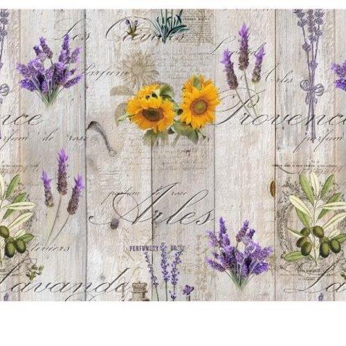 PVC oilcloth Lavender / sunflower