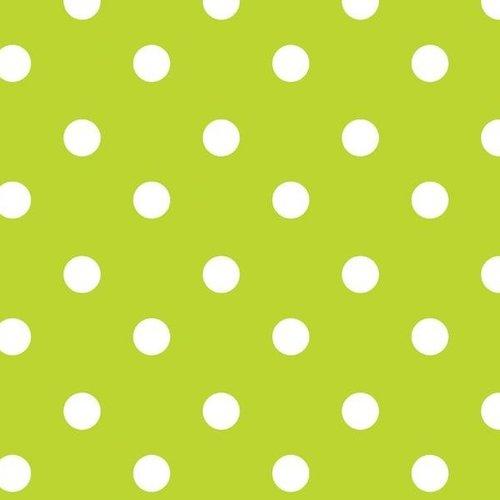PVC oilcloth Stip light green