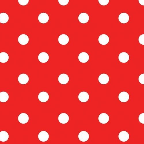 PVC oilcloth Stip red
