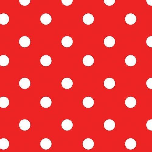 PVC Tafelzeil Stip rood