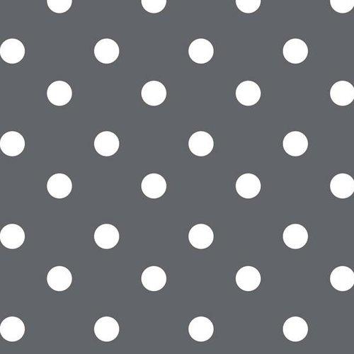PVC oilcloth Stip grey