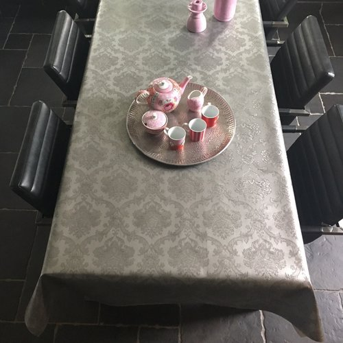 Table textiles Polyline Amatista silver