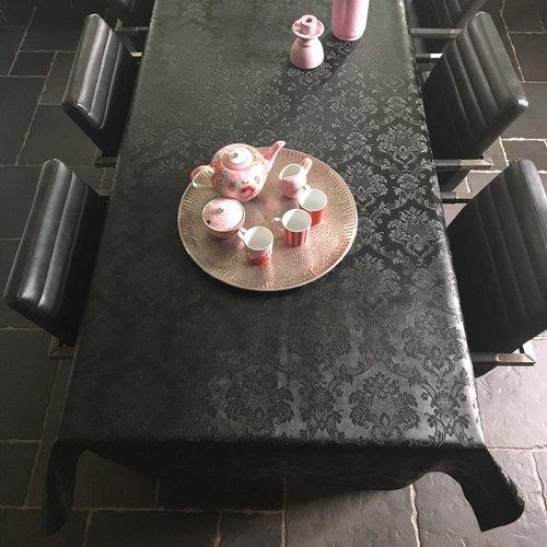Table textile Polyline Amatista black