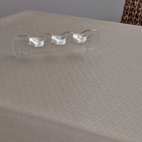Table textiles Polyline Jaspe taupe