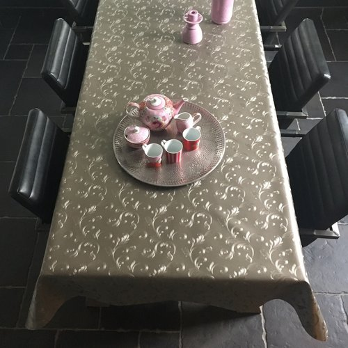 Table textiles Polyline Agata taupe
