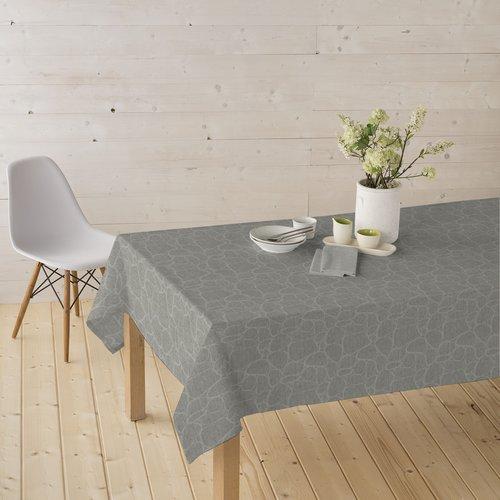 Coated Table textile Tramuntana silver
