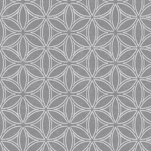 PVC oilcloth Orbit silver