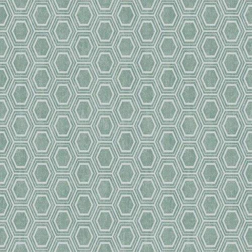PVC oilcloth Alveole green