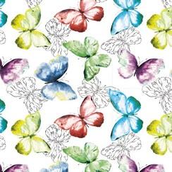 Transparant tafelzeil decor vlinders