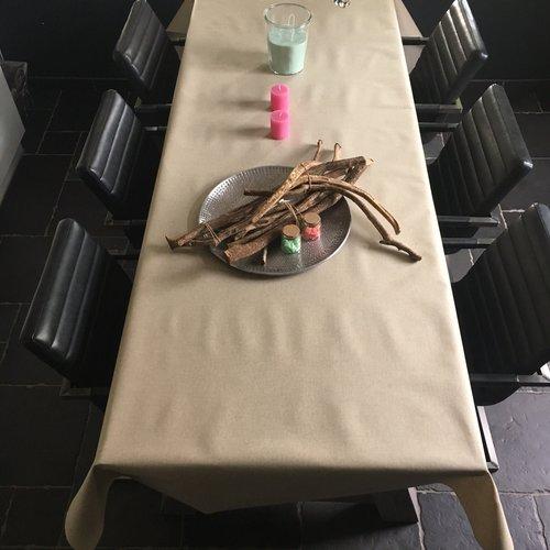 Gecoat tafellinnen - nature